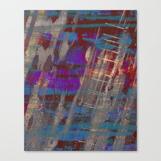 Depth - Abstract, Textured Oil Painting Canvas Print