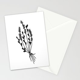 Dried Lavender Bunch Stationery Cards