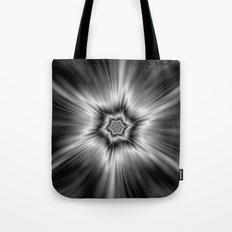Black and White Star Burst Tote Bag