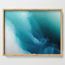 """""""Inner Calm"""" Turquoise Modern Contemporary Abstract Serving Tray"""