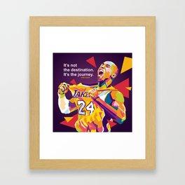 KO8E23 Bryant WPAP Pop Art Framed Art Print