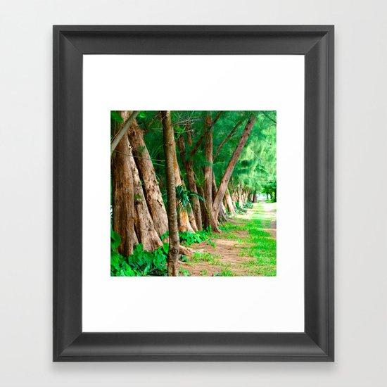 #TROPICAL PARC - MIAMI USA Framed Art Print
