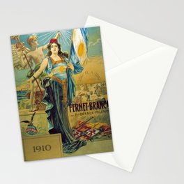 1910 Fernet Branca Liqueur Aperitif Advertisement Poster Print Stationery Cards
