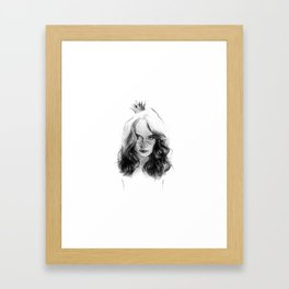 a princess. girl with a crown. drawing. Framed Art Print