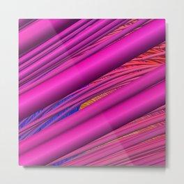 Fibers in Pink Metal Print