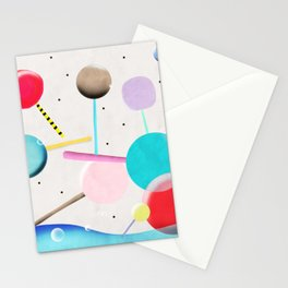 Lolli pop floating water waves and bubbles Stationery Cards