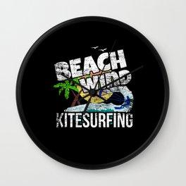 Kitesurfing Beach Sea Waves Gift Idea Wall Clock