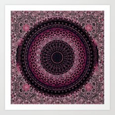 Rosewater Tapestry Mandala Art Print