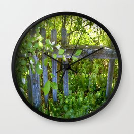 Rickety Fence Wall Clock