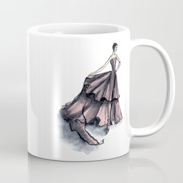 Audrey Hepburn in Pink dress vintage fashion Coffee Mug
