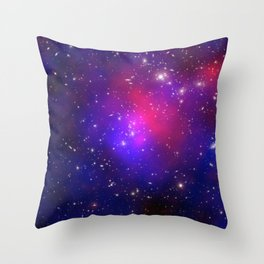 1875. Pandora's Cluster Revealed: A collision of galaxy clusters about 3.5 billion light years away. Throw Pillow