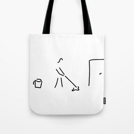 cleaning lady building cleaner Tote Bag