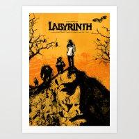 labyrinth Art Prints featuring Labyrinth by Dan K Norris