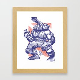 365 Space Wrestlers: Blitzkrieg Bopper Framed Art Print
