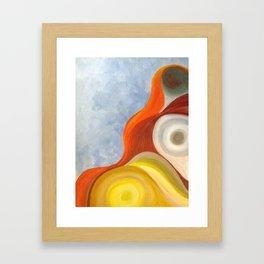 Cadmium Wave Framed Art Print