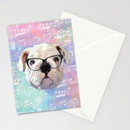 Singing Bulldog Stationery Cards
