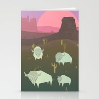 bison Stationery Cards featuring Bison by N1MH