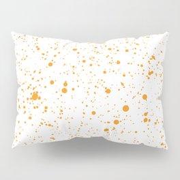 Orange Splatter Pillow Sham