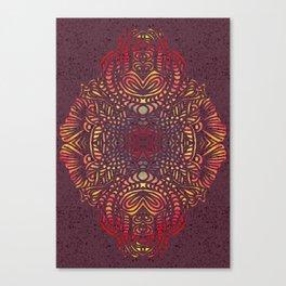 Orange Zentangle Canvas Print