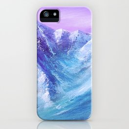 Mountain Painting for Fathers Day iPhone Case