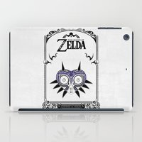 legend of zelda iPad Cases featuring Zelda legend - Majora's mask by Art & Be