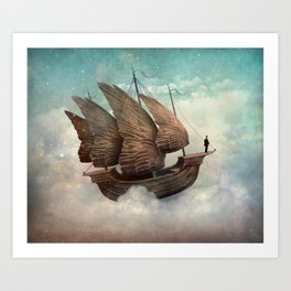 Flying Merchant Art Print