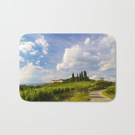 Sunset in the vineyards of Rosazzo Bath Mat