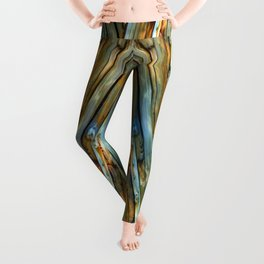 Knotty Plank Texture Leggings