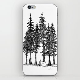 Camping with giants iPhone Skin