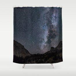 Perseid Over Sacagawea Peak Shower Curtain