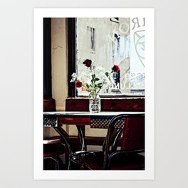 Cafe Break Art Print
