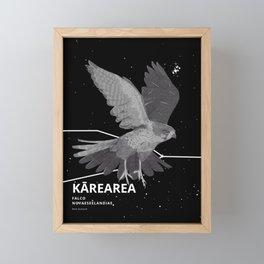Birds - Kārearea (NZ Falcon) Framed Mini Art Print
