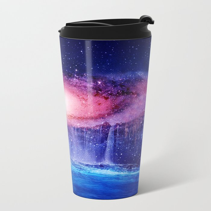 Andromeda Waterfall. Metal Travel Mug
