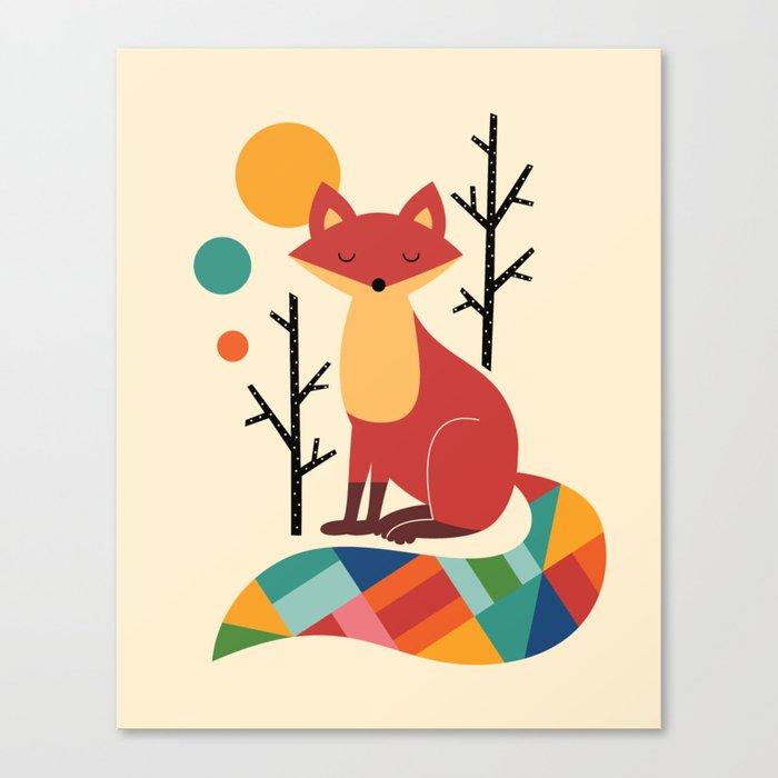 Rainbow Fox Leinwanddruck