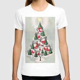 Vintage Christmas Tree Village T-shirt