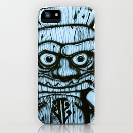Tiki all made up in blue iPhone Case
