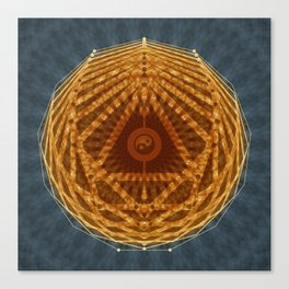 Mandala of Radiant Abundance (grey-gold) Canvas Print