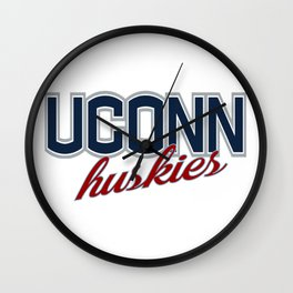 UConn Huskies Wall Clock
