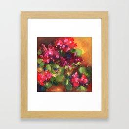 Geranium Reds Framed Art Print