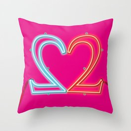It Takes Two - bicolor Throw Pillow