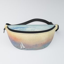 If the Wind is Right #Society6 #watercolor #ocean Fanny Pack