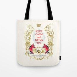 Keep calm and drink tea Tote Bag