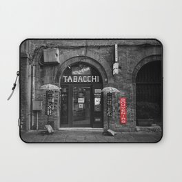 Souvenirs from Bologna Black and White Photography Street Laptop Sleeve