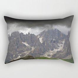 Mountains Alps Peaks Storm Rectangular Pillow