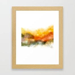 Soft Marigold Pastel Abstract Framed Art Print