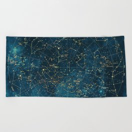 Under Constellations Beach Towel