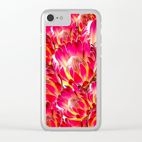 PinkFlower9 Clear iPhone Case