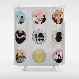 SANA BAKKOUSH: A MINIMALIST STORY Shower Curtain
