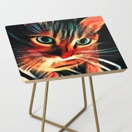 Cheshire Stripes Cat Side Table