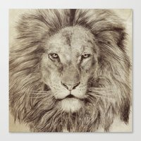 leo Canvas Prints featuring Leo by Eric Fan